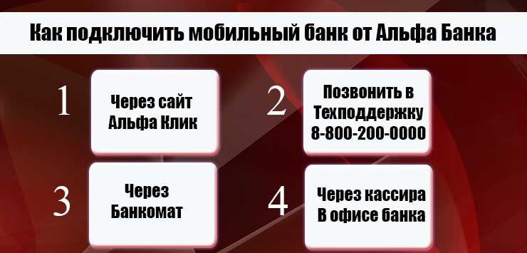 альфа банк как подключить мобильный банк