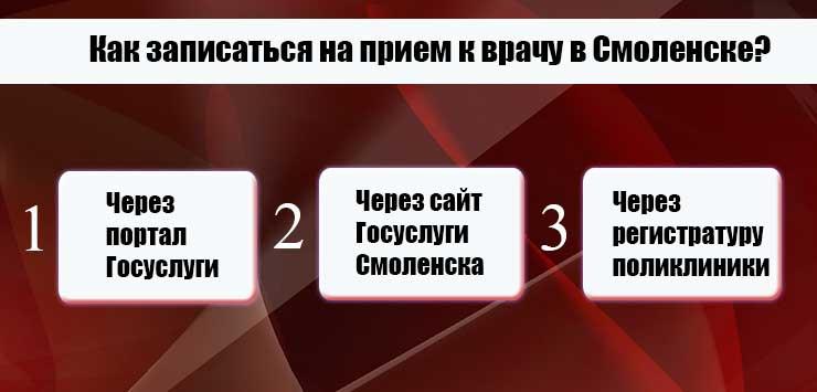 Запись к врачу через интернет Смоленск