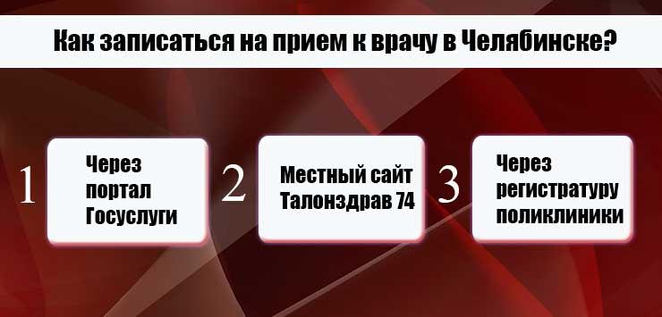 Запись к врачу через интернет Челябинск