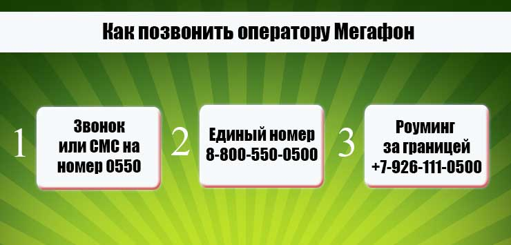 как позвонить оператору мегафона бесплатно